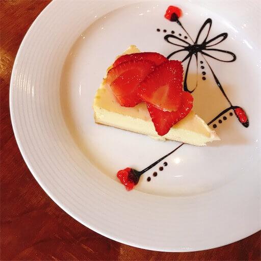 マナーホテルのチーズケーキ