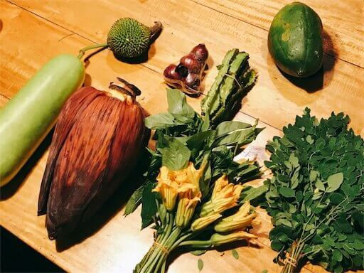 パブリックマーケットの野菜